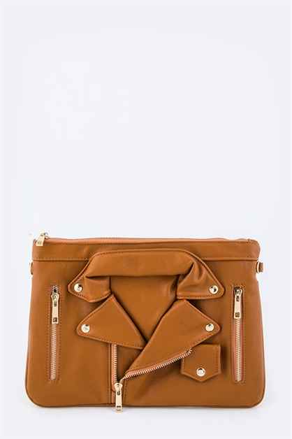 Leather Jacket Fashion Clutch - orangeshine.com