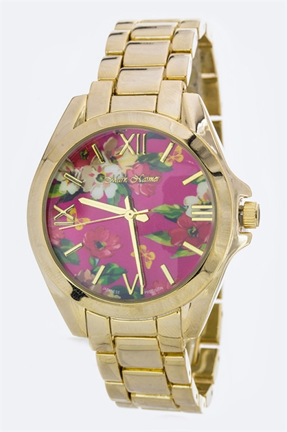 Floral Print Crystal Watch - orangeshine.com