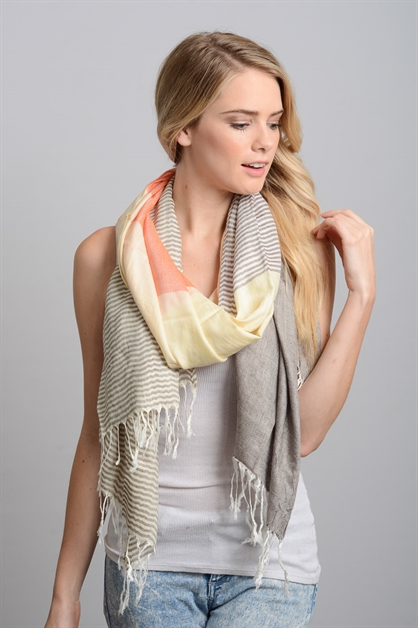 Colorblock Scarf - orangeshine.com