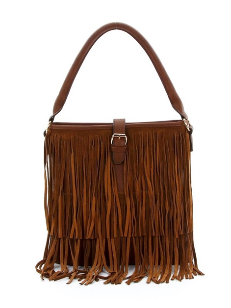 Fringed Shouler Bag - orangeshine.com