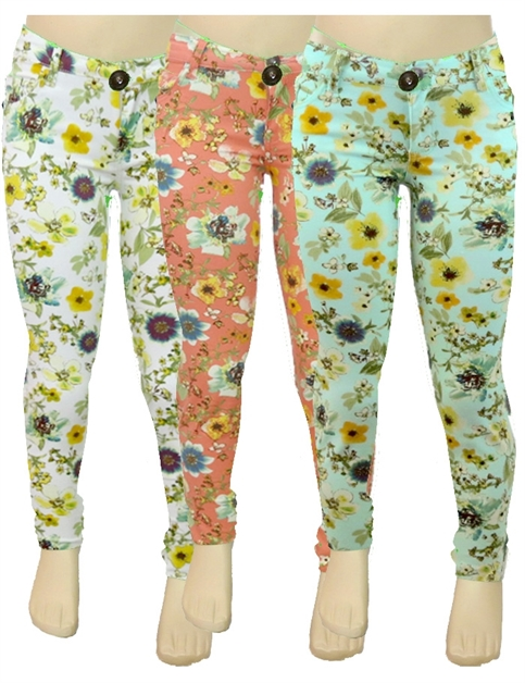 NCSP-300 KIDS FLORAL PANTS - orangeshine.com