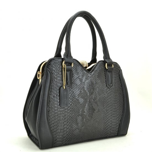 Croc faux leather satchel - orangeshine.com