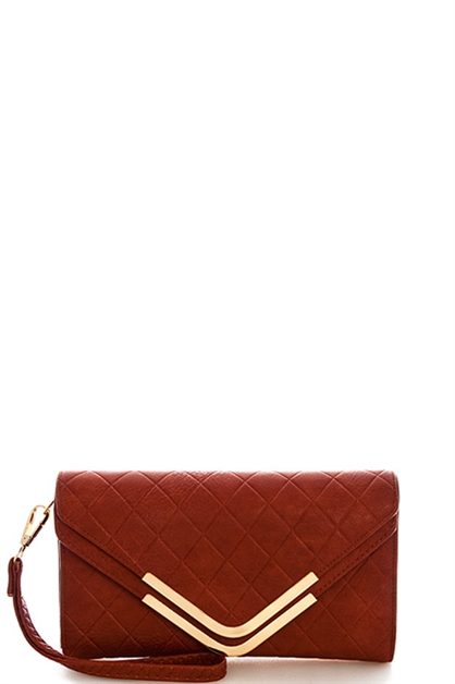 TRENDY DOUBLE FLAP CLUTCH - orangeshine.com