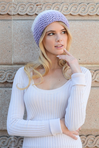 Ombre Three Tone Beanie - orangeshine.com