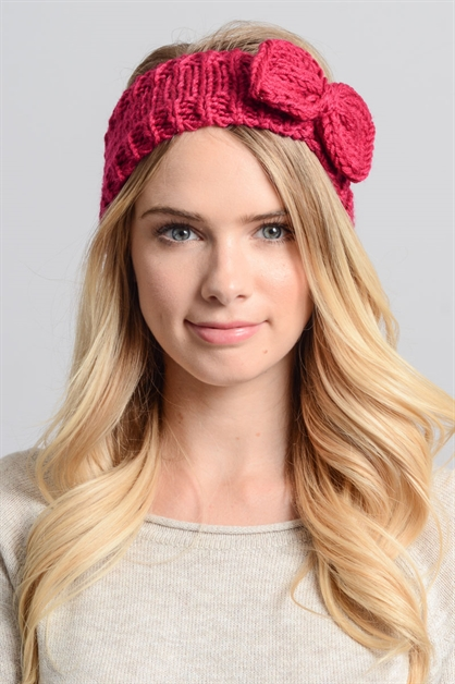Winter Bow Headband - orangeshine.com