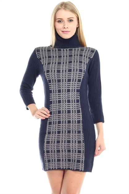 Turtleneck Dress - orangeshine.com