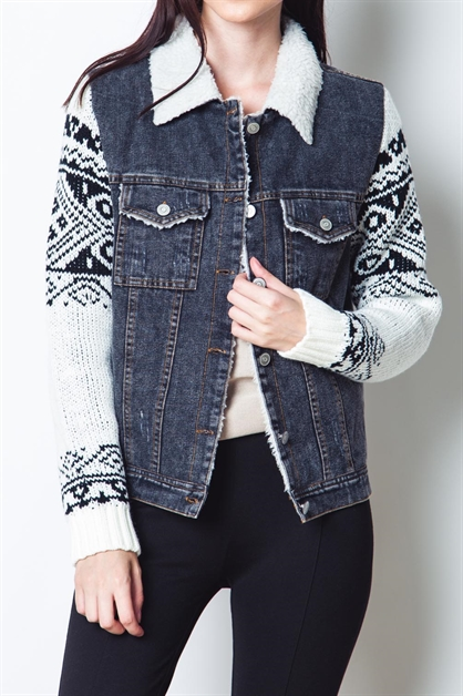 AUTUMN WINTER DENIM JACKET - orangeshine.com