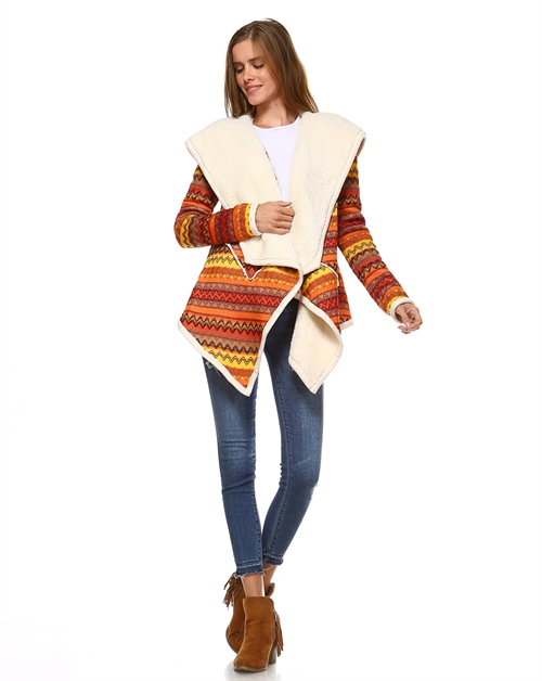 SHERPA LINED SWEATER - orangeshine.com