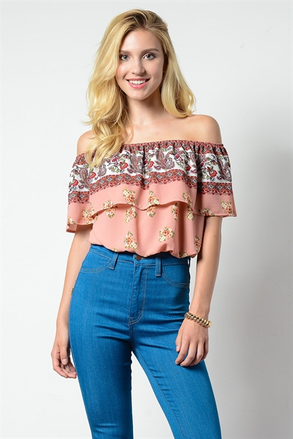 BUBBLE TOP OFF SHOULDER TOP - orangeshine.com
