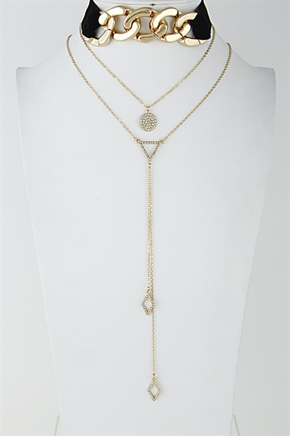 Simple Chain Choker Necklace - orangeshine.com
