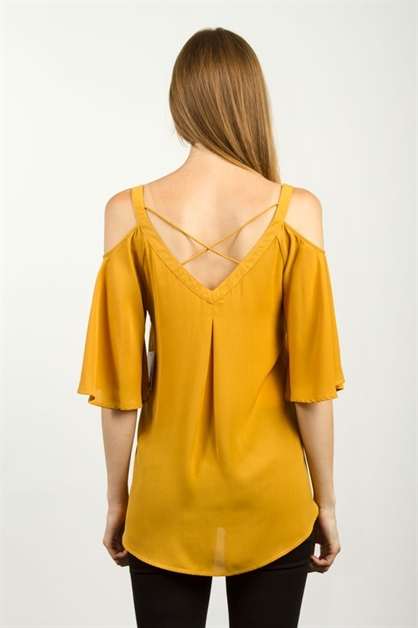 V-CUTOUT BACK CRISSCROSS TOP - orangeshine.com