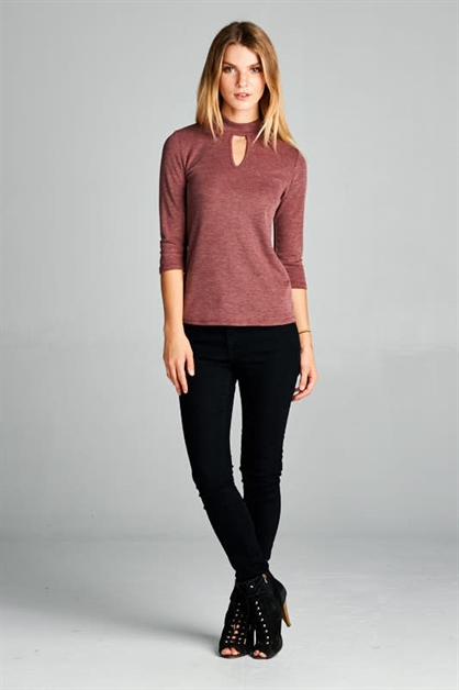 HIGH NECK KEYHOLE TOP - orangeshine.com