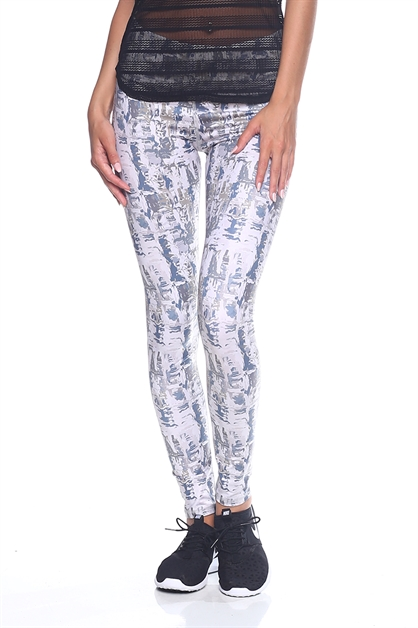 Womens Workout Print Legging - orangeshine.com