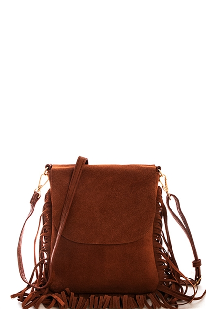 Soft Suede Crossbody Bag - orangeshine.com