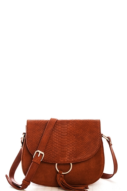 Smooth Suede Crossbody - orangeshine.com