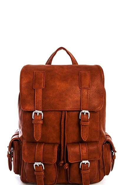 Trendy Multi Pocket Backpack - orangeshine.com