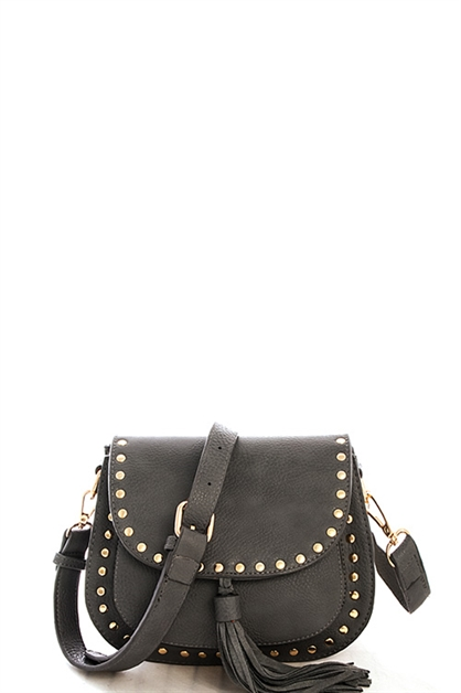 Fashion Studded Crossbody Bag - orangeshine.com