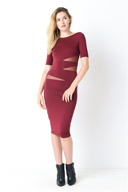 MODAL MIDI DRESS - orangeshine.com