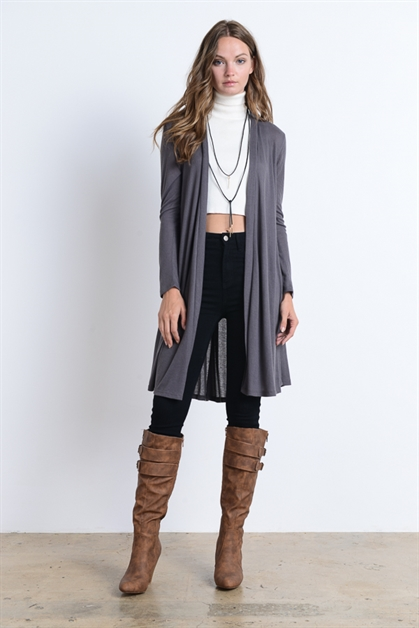 Long Duster Cardigan Sweater - orangeshine.com