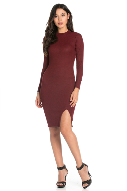 RIB BACK OPEN HOLE DRESS - orangeshine.com
