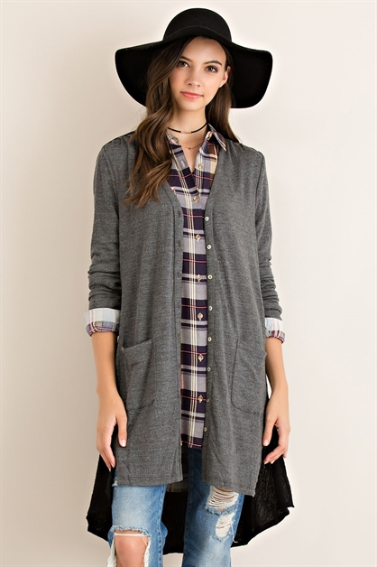 Solid Button Down Cardigan - orangeshine.com