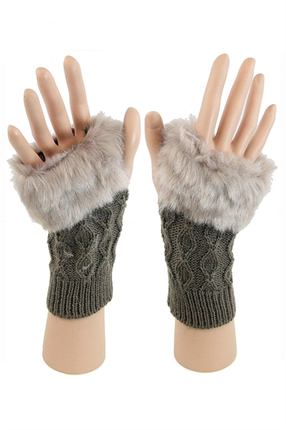 Fur Gloves - orangeshine.com