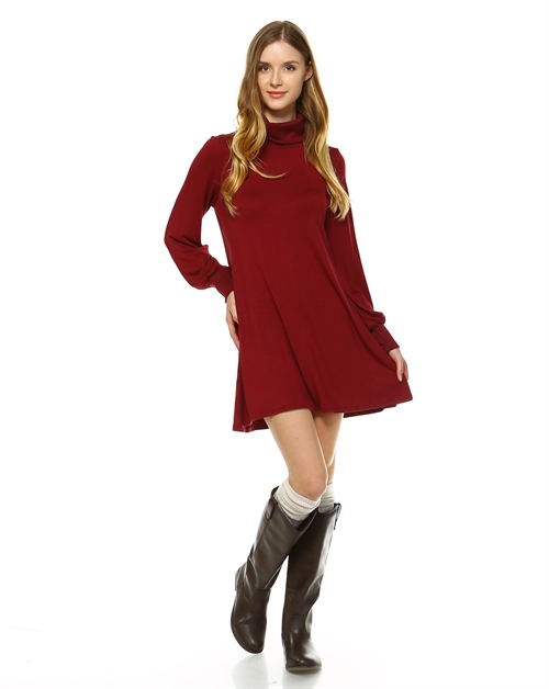 TURTLENECK L/S SLV DRESS - orangeshine.com
