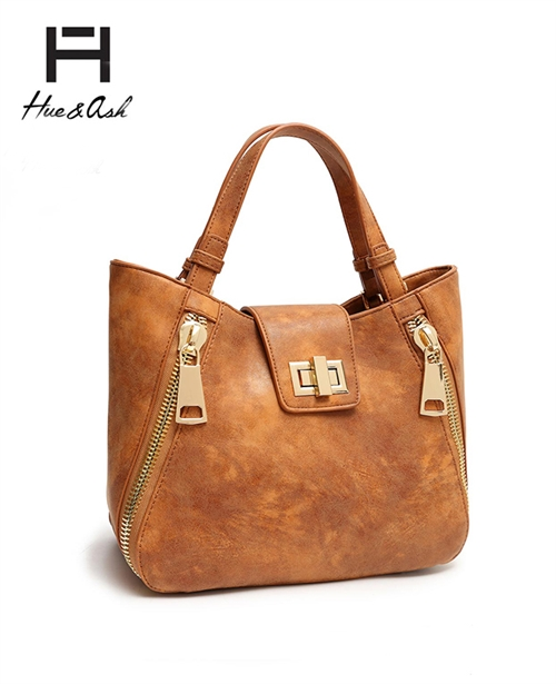 Zipper Hardware Fashion Tote - orangeshine.com