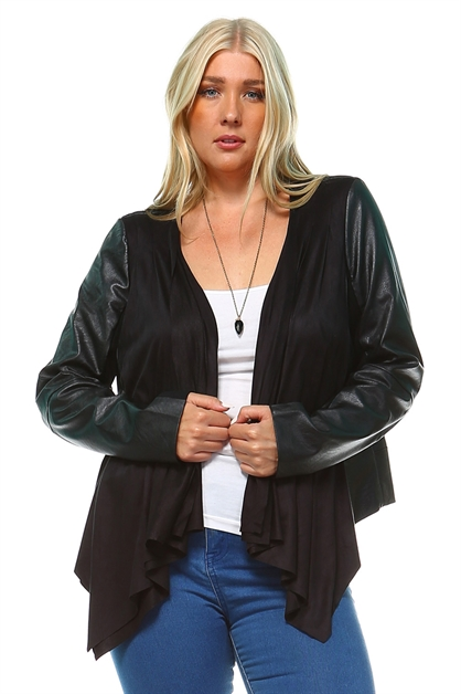 FAUX LEATHER JACKET - orangeshine.com