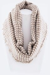 Houndstooth Raw Edge Scarf - orangeshine.com