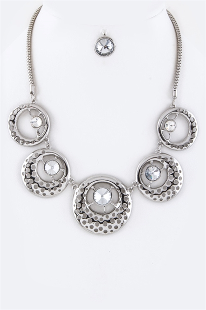 Perforated Crystal Necklace - orangeshine.com