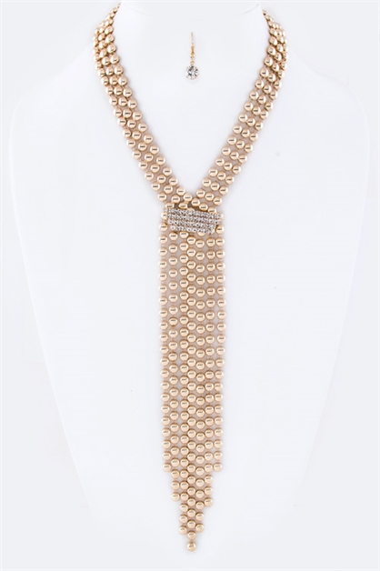 Layer Chain Drop Necklace Set - orangeshine.com