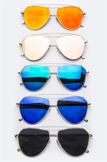 Iconic Flat Lens Sunglasses - orangeshine.com