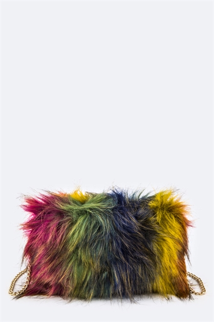 Fur Crossbody Swing Bag - orangeshine.com
