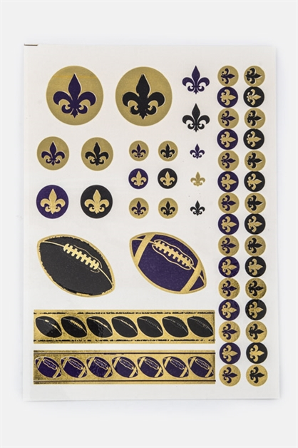 Football Foil Tatoo - orangeshine.com
