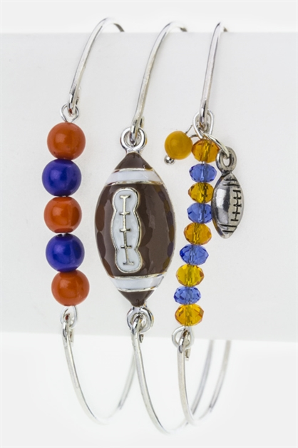 Football  Beads Bangles Set - orangeshine.com