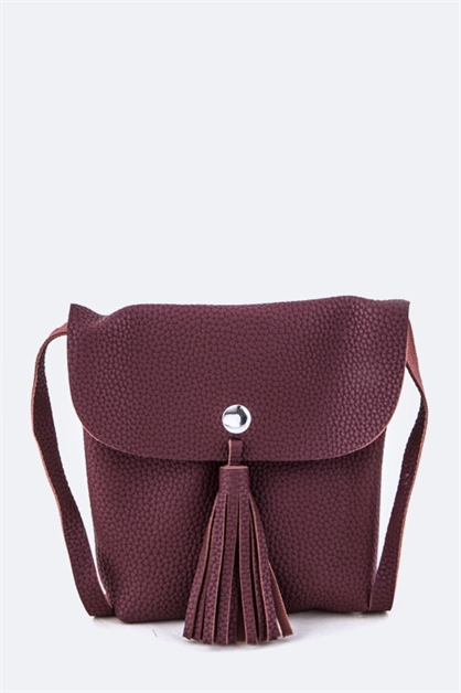 Grain Leather Crossbody - orangeshine.com