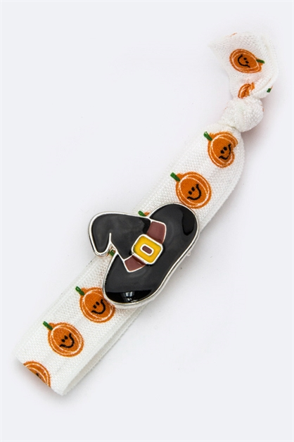 Enamel Witch Hat Hair Tie - orangeshine.com