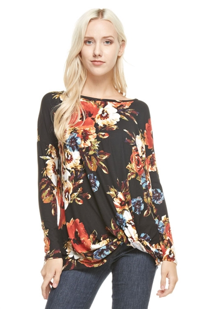 floral knot tunic top - orangeshine.com