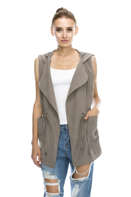 TRENCH VEST WITH HAT - orangeshine.com