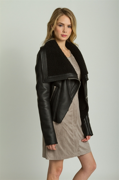 LEATHER FAUX JACKET - orangeshine.com