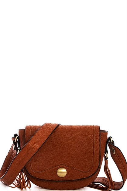 Double Tassel Crossbody Bag - orangeshine.com