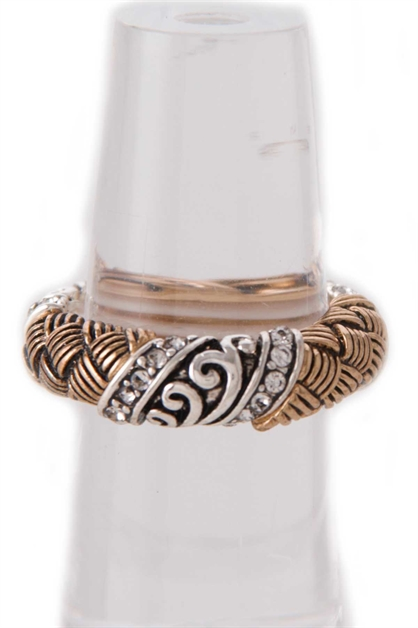 BASKET ACCENT STRETCH RING - orangeshine.com