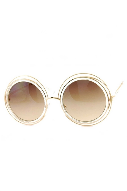 CIRCULAR METAL SUNGLASSES - orangeshine.com