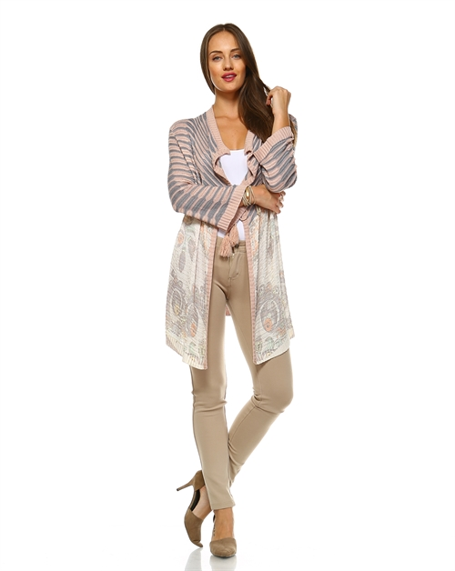 -Bohemian Open Draped Cardigan - orangeshine.com