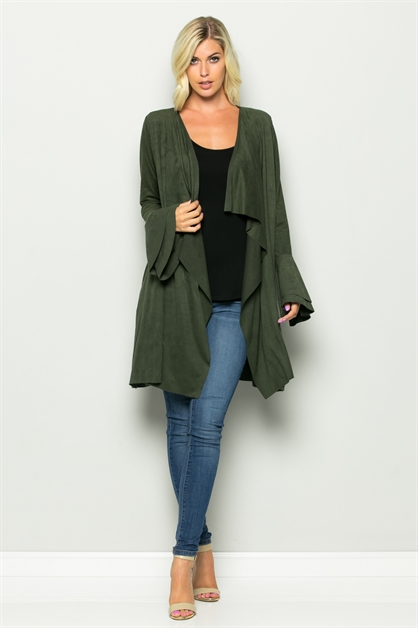 Double Bell Sleeve Jacket - orangeshine.com