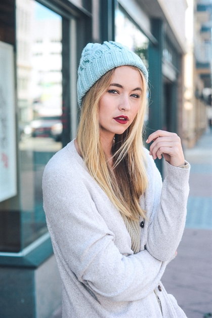 Thick Braid Knit Beanie - orangeshine.com