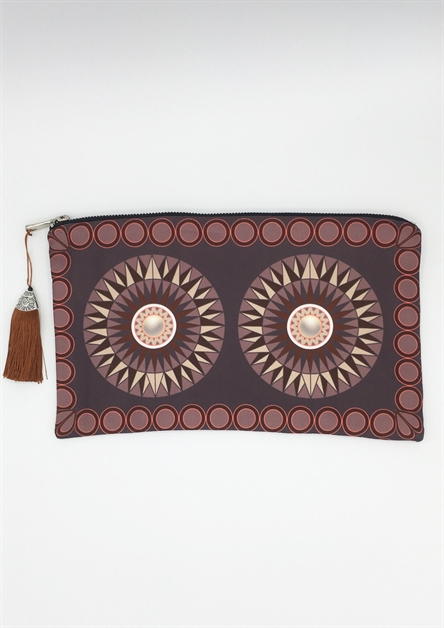 Brown Sunburst Clutch - orangeshine.com