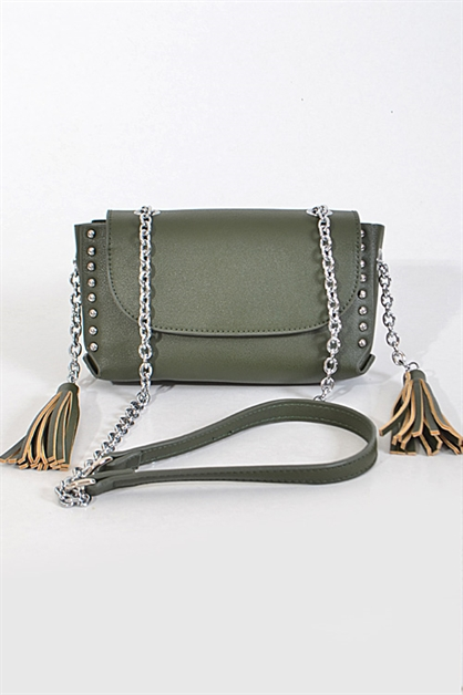 Chain Clutch With Tassel - orangeshine.com