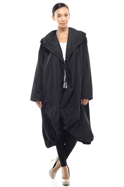 Hodded  Oversized Casul Thin Jacket - orangeshine.com